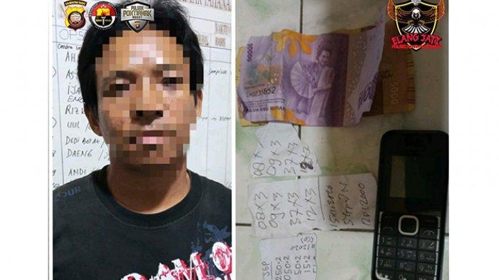 Jual Togel, Pria ini Diciduk Polisi Saat Operasi Pekat di Pontianak