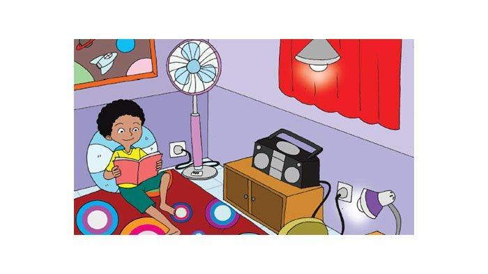 Amatilah gambar kamar Edo di berikut ini.
