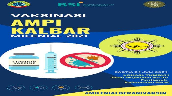 Tingkatkan Partisipasi Vaksinasi Pada Generasi Muda, AMPI Kalbar Gelar Vaksinasi Milenial 2021