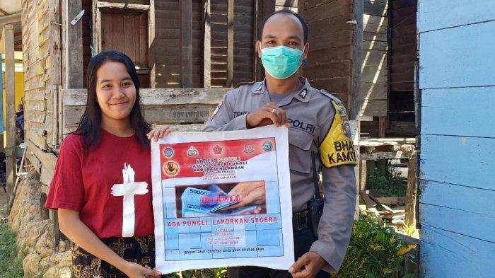 Anggota Polsek Meranti Ajak Masyarakat Cegah Pungli