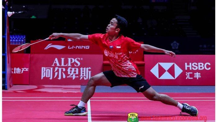 Jadwal Badminton BWF WTF 2019 Kamis 12 Desember: Anthony Sinisuka Ginting vs Chen Long