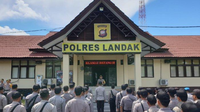Kapolres Landak Sambut Anggota BKO Polda Kalbar