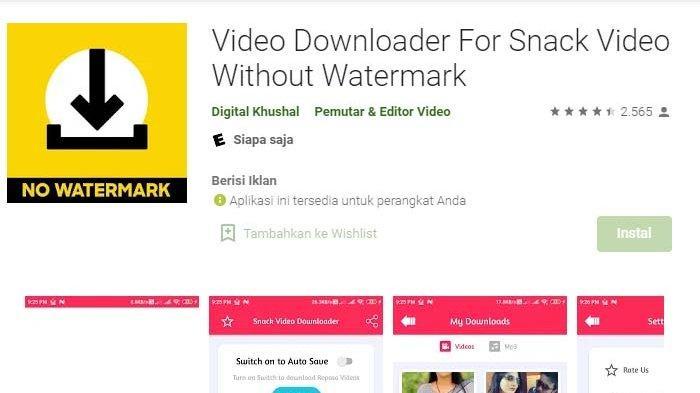 Snack Video Downloader Without Watermark dan Cara Memasukan Kode Teman di Snack Video