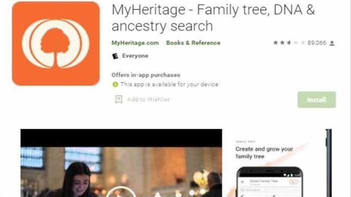 Aplikasi Foto MyHeritage