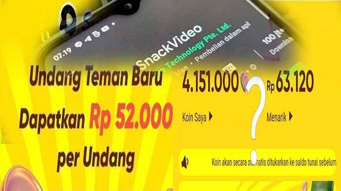 Aplikasi Snack Video penghasil uang di Indonesia