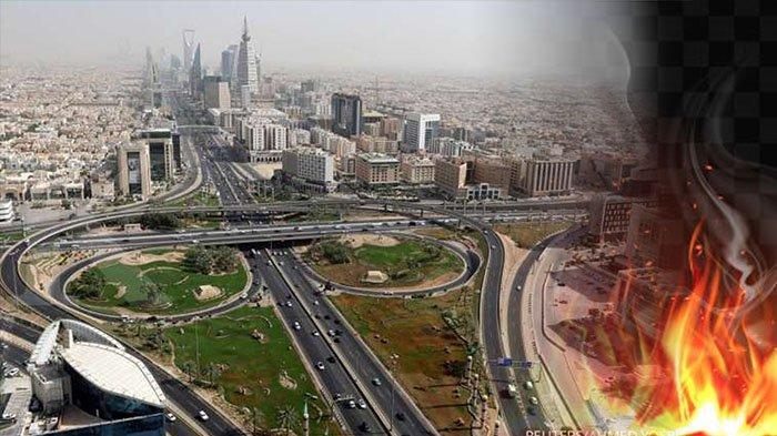 ARAB Saudi Diguncang Ledakan, Kepulan Asap Terlihat di Kota Riyadh | Aksi Pemberontak Houthi ?