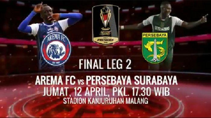 Arema FC Vs Persebaya Leg 2 Final Piala Presiden 2019 Hari Ini, Singo Edan Diambang Juara