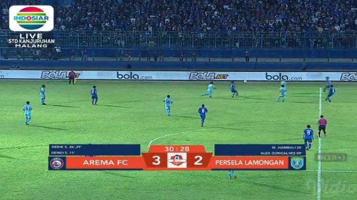 Live Streaming Arema FC Vs Persela Lamongan di Indosiar, Lima Gol Tercipta! Arema FC Unggul 3-2