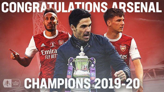 Arsenal Juara Piala FA 2020 Usai Bekuk Chelsea! Sentuhan Magic Aubameyang Bawa Arsenal Raja Piala FA