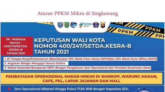 Aturan Lengkap PPKM Mikro di Singkawang yang Berlaku Mulai 7 Juli 2021