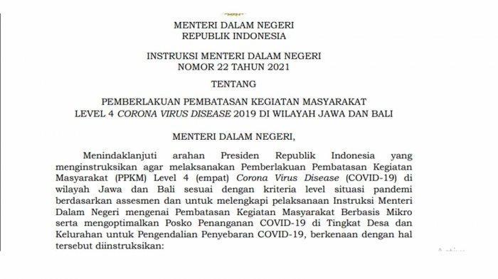 Aturan PPKM Level 4 dan Daftar Wilayah yang Melaksanakannya