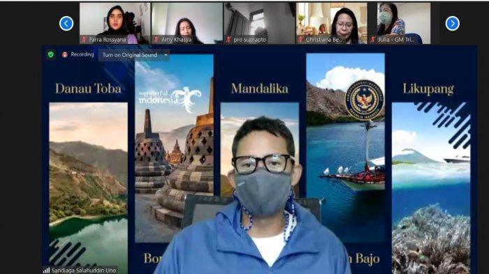 CEO Tribun Network Terkesan Menparekraf Sandiaga Uno Berkantor di Pulau Dewata Bali