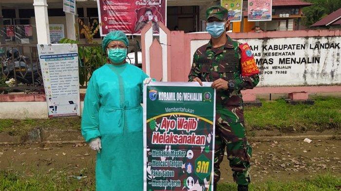 Patroli Yustisi, Babinsa Menjalin Ajak Masyarakat Biasakan Diri Terapkan Prokes