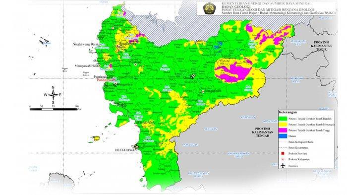 Badan Geologi Keluarkan Peringatan Dini Gerakan Tanah di Wilayah Kalbar Januari 2020