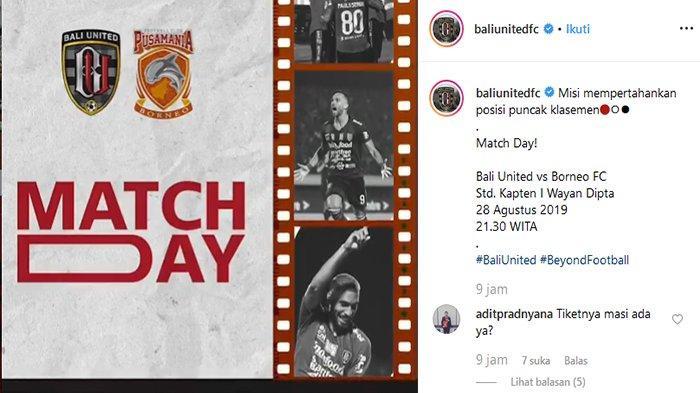 Sedang Berlangsung, Link Live Streaming Bali United Vs Borneo FC, Teco Turunkan Spasojevic & Llipaly