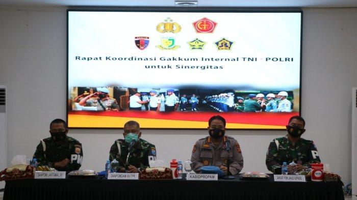 Bidpropam dan Polisi Militer Melaksanakan Rapat Koordinasi Terkait Penegakan Hukum Terhadap Oknum