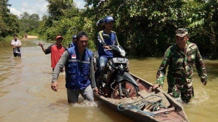 Kodim Pangkalan Bun Bersama Instansi Terkait Lakasanakan Pendataan Korban Banjir