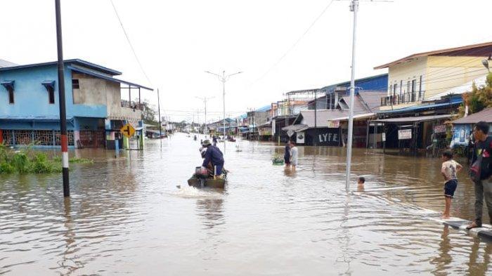 Banjir di Putussibau Sudah Berangsur Surut, Segini Ketinggian Air