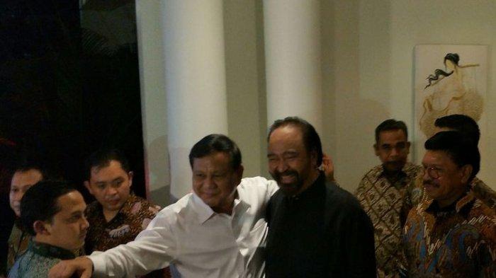 Pertemuan Surya Paloh dan Prabowo Sepakati Amandemen UUD 1945, Paloh Singgung Poin Pemilu Serempak