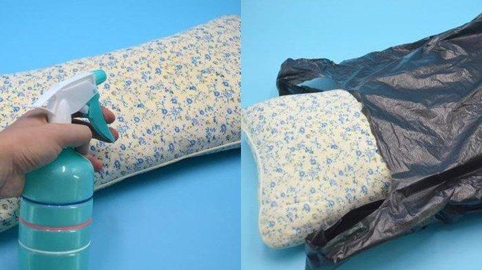 TRIK AJAIB , Masukkan Bantal Dalam Kantong Plastik Hitam Lalu Jemur , Hasilnya Luar Biasa !