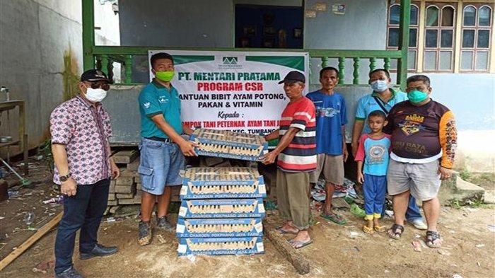 Bantu Ekonomi Masyarakat, PT LAP dan PT MP Salurkan 2000 Ekor Bibit Ayam Potong