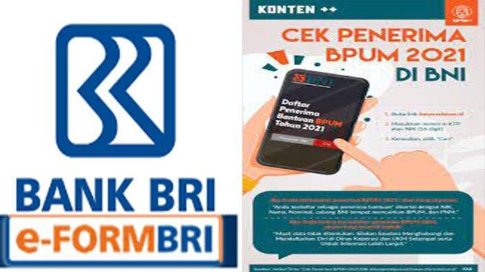 Eform bni co id /bpum Pakai KTP Online Login Banpresbpum.id Dapat BLT UMKM 1,2 Juta Dari BNI dan BRI