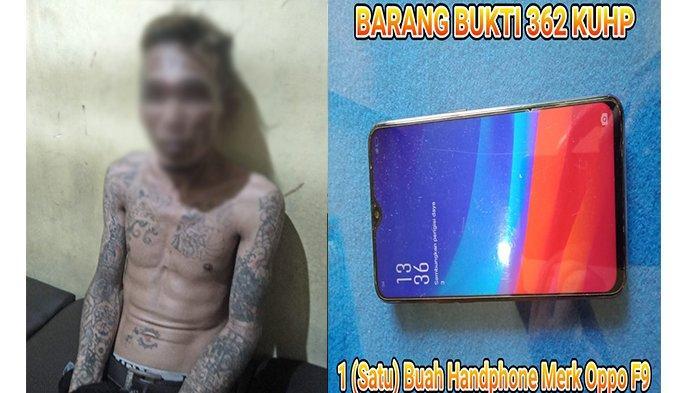 Nekat Curi Handphone Tetangga, Pria 39 Tahun Ini Dibekuk Unit Reskrim