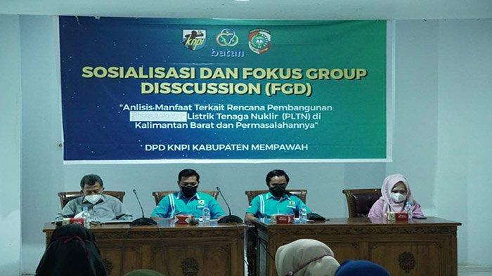 BATAN dan KNPI Mempawah Gelar FGD Pembangkit Listik Tenaga Nuklir