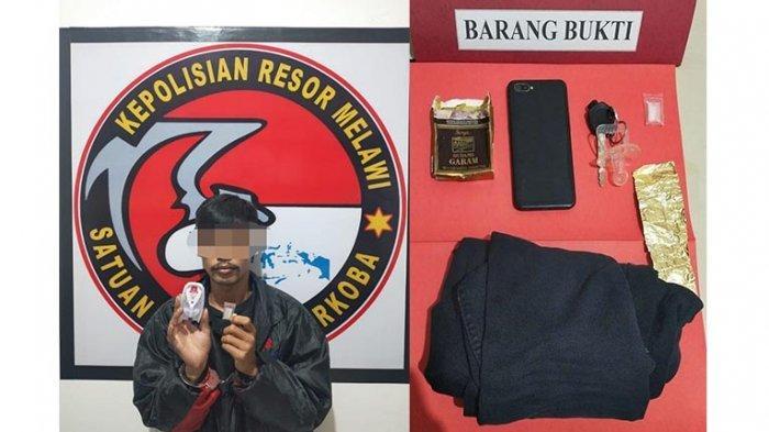 Kedapatan Bawa Narkoba, Seorang Pria Ditangkap Personel Polres Melawi