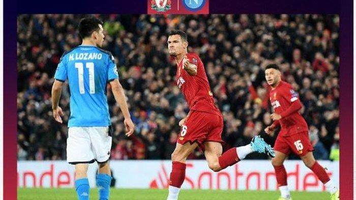 Video Cuplikan Gol Liverpool vs Napoli di Liga Champion, Gol Dejan Lovren Amankan Posisi The Reds