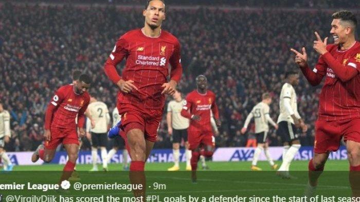 Liverpool vs Man Utd: Van Dijk dan Mohamed Salah Perpanjang Rekor The Reds di Premier League