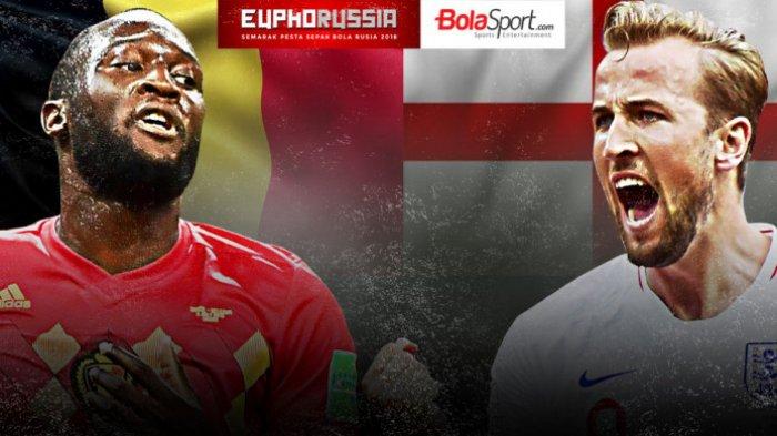 Live Piala Dunia di TransTV Belgia vs Inggris, Belgia Unggul Lewat Gol Cepat