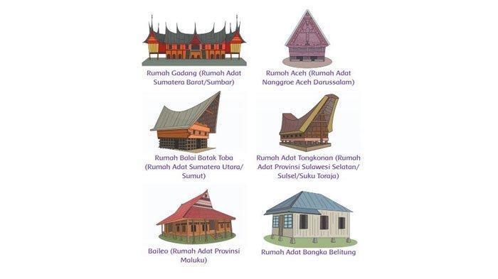 Berikut adalah rumah adat dari berbagai provinsi di Indonesia.