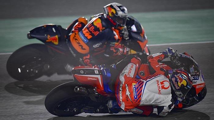 BERLANGSUNG MotoGP Doha 2021 Live Streaming Trans7 - Duo Ducati Pimpin Balapan, Rossi Paling Buncit
