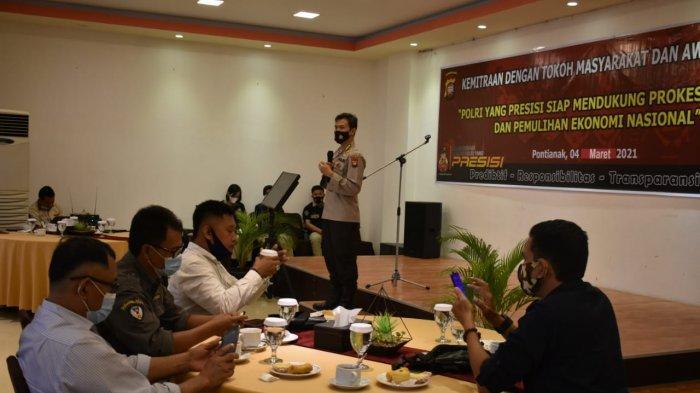 Kabid Humas Polda Kalbar Gelar Kemitraan dengan Tokoh Masyarakat dan Awak Media