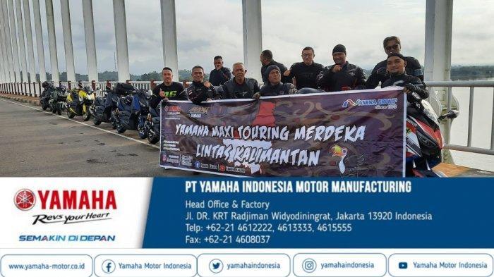Rayakan HUT ke-76 RI, Yamaha Maxi Touring Kemerdekaan Melintasi Kalimantan
