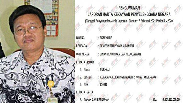 BIODATA Nurhali - Kepsek Masuk Daftar KPK dengan Harta Fantastis, Melebihi Kekayaan Presiden Jokowi