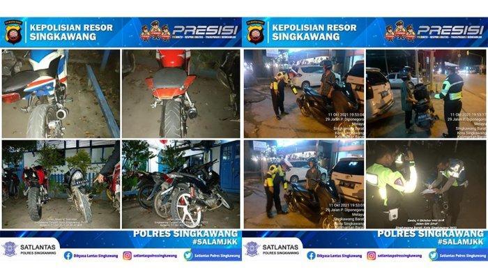 Gelar Patroli, Satlantas Polres Singkawang Tindak Tegas Pengguna Knalpot Bising