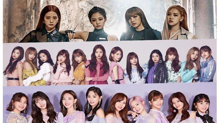 BLACKPINK & TWICE Betah 3 Teratas, IZ*ONE Salip ITZY! Inilah Girl Group K-Pop Terpopuler April 2019