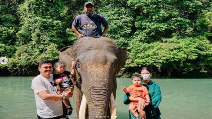 Destinasi Gajah, Kahiyang Ayu dan Bobby Nasution Tunjukkan Serunya Bermain di Alam