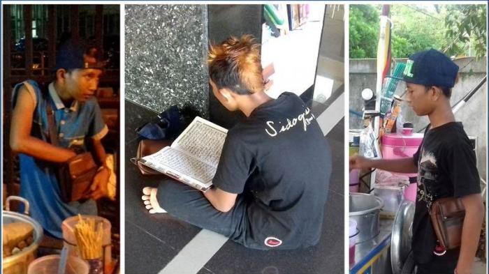 Subhanallah! Bocah Penjual Pentol ini Selalu Sempatkan Baca Al-Quran saat Jualan hingga Hafal 25 Juz