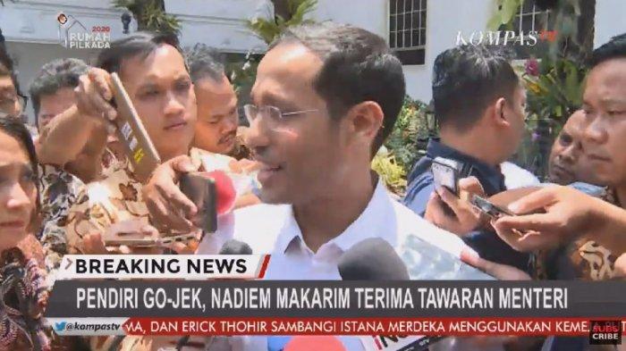 'Bocoran' Daftar Menteri Kabinet Jokowi: Nadiem, Wishnutama, Erick Thohir, Ilham Habibie hingga TGB