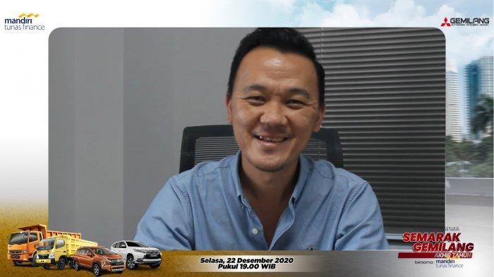 Branch Manager PT Gemilang Berlian Indah, Bonifacius menyampaikan kata sambutan pada acara Semarak Gemilang Akhir Tahun secara Virtual melalui Zoom Metting