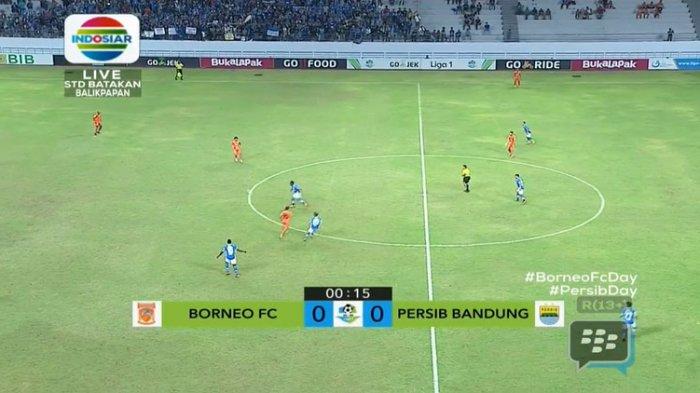 Sedang Berlangsung! LIVE STREAMING Liga 1 Gojek Borneo FC vs Persib Bandung