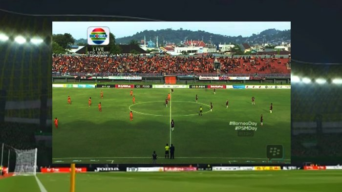 LIVE BOLA Babak I Borneo Vs PSM Makassar, Tim Tamu Langsung Menyerang