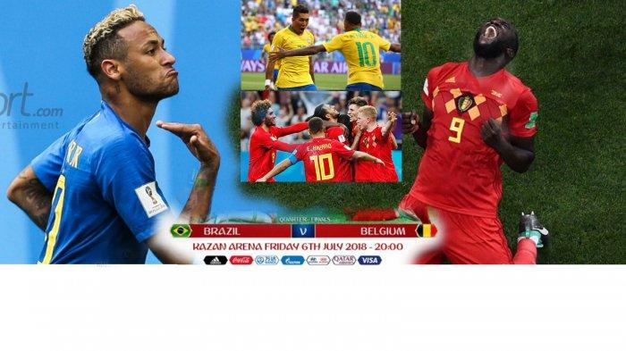 Prediksi Brasil vs Belgia, Head to Head dan Bursa