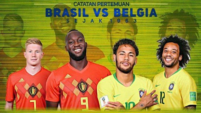 Sedang Berlangsung LIVE Brazil Vs Belgia di TransTV! Live Streaming dengan Cara Ini