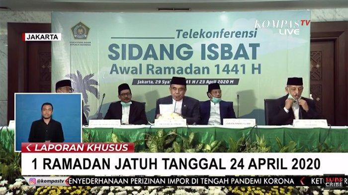 BREAKING NEWS - Besok Puasa, Kemenag Tetapkan Jumat 24 April Awal Puasa 1 Ramadhan 1441 H