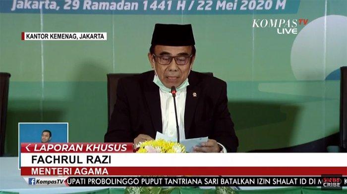 BREAKING NEWS - Hasil Sidang Isbat Idul Fitri 2020 1 Syawal 1441 H Ditetapkan Minggu 24 Mei 2020