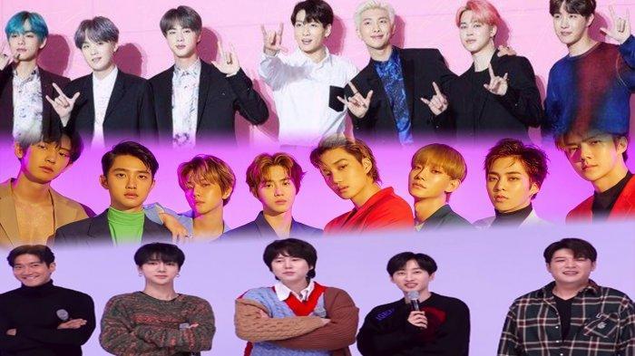 BTS, EXO & Super Junior Ranking Teratas Boyband Idol K-Pop Terpopuler Februari 2020 Ini